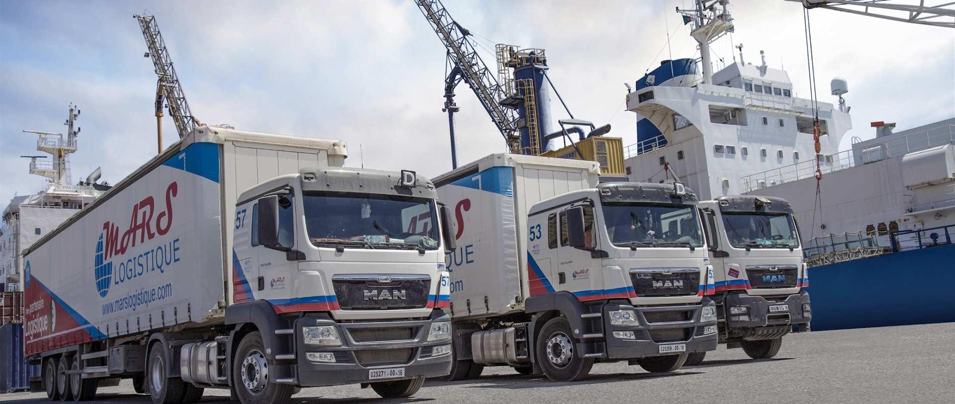 Freight Fret terrestre Algérie mars logistique